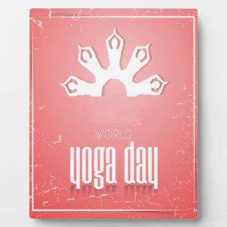 World Yoga Day - Appreciation Day Plaque