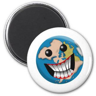 Worldly Smile 2 Inch Round Magnet