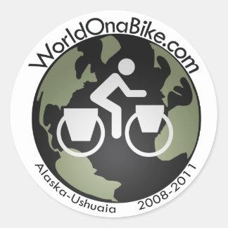 WorldOnaBike.com Logo sticker