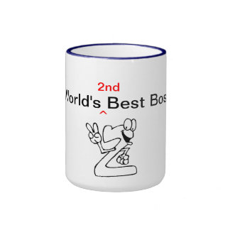World's 2nd Best Boss Ringer Coffee Mug