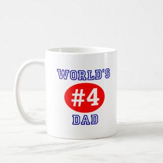 World's #4 Dad Coffee Cup Classic White Coffee Mug