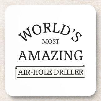 World's amazing air-hose driller beverage coaster