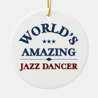 World's amazing Jazz Dancer Round Ceramic Ornament