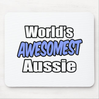 World's Awesomest Aussie Mousepad