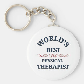 World's beat Physical Therapist Keychain