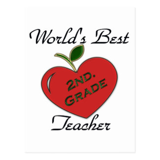 World's Best 2nd. Grade Teacher Postcard