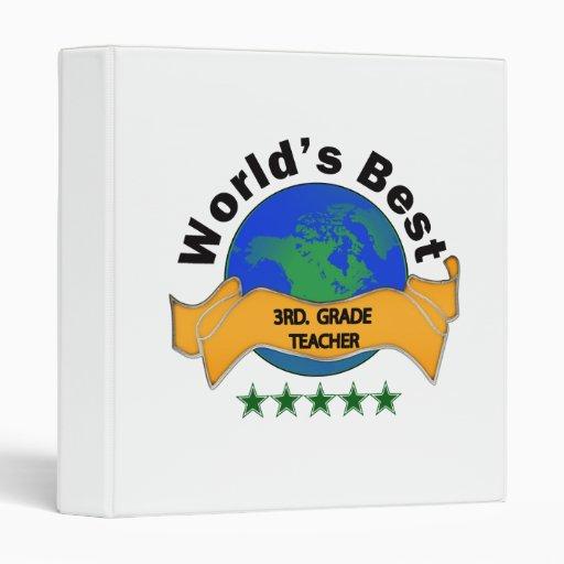 World's Best 3rd. Grade Teacher Binders