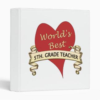 World's Best 5th. Grade Teacher 3 Ring Binder