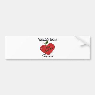 World's Best 7th. Grade Teacher Bumper Sticker