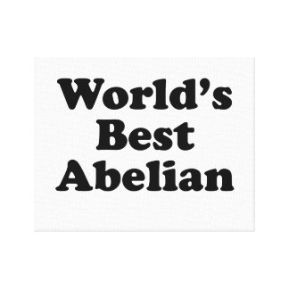 World's Best Abelian Canvas Print