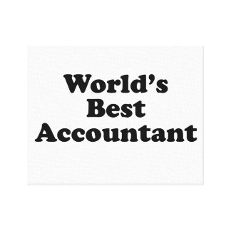 World's Best Accountant Canvas Print