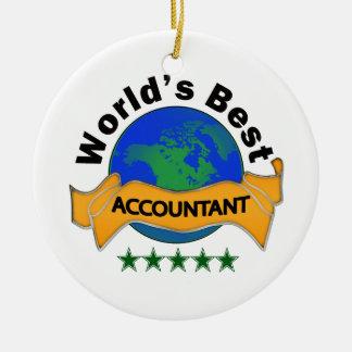 World's Best Accountant Ceramic Ornament