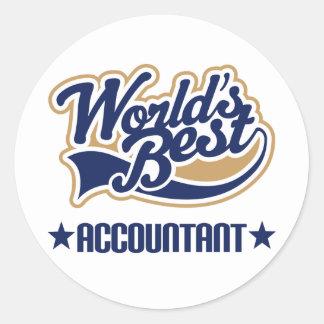 Worlds Best Accountant Classic Round Sticker