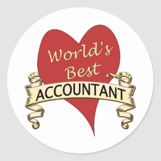 World's Best Accountant Classic Round Sticker