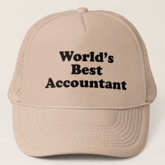 World's Best Accountant Trucker Hat