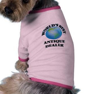World's Best Antique Dealer Dog Tshirt
