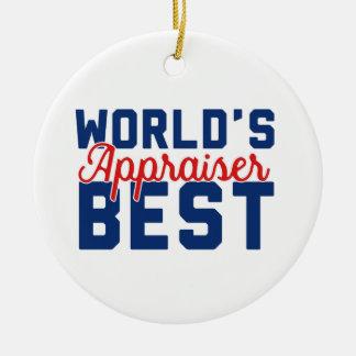World's Best Appraiser Ceramic Ornament