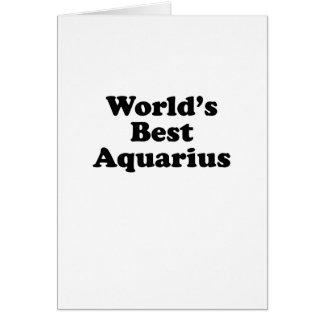 World's Best Aquarius Card