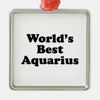 World's Best Aquarius Metal Ornament