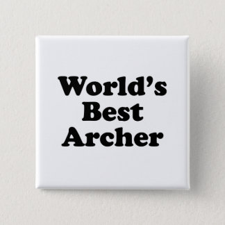 World's Best Archer 2 Inch Square Button