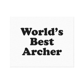 World's Best Archer Canvas Print