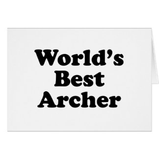 World's Best Archer Card