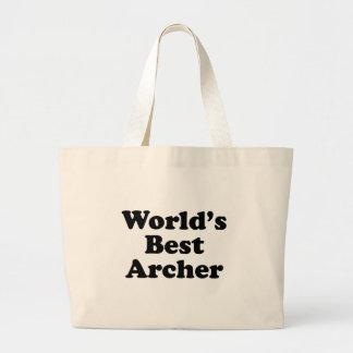 World's Best Archer Large Tote Bag