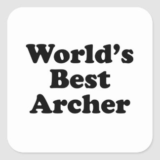World's Best Archer Square Sticker