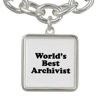 Worlds' Best Archivist Charm Bracelets