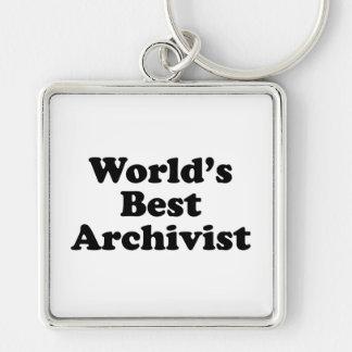 Worlds' Best Archivist Keychain