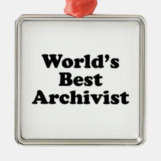 Worlds' Best Archivist Metal Ornament