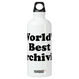 Worlds' Best Archivist Water Bottle