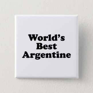 World's Best Argentine 2 Inch Square Button