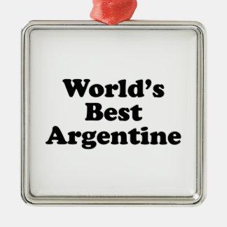 World's Best Argentine Metal Ornament