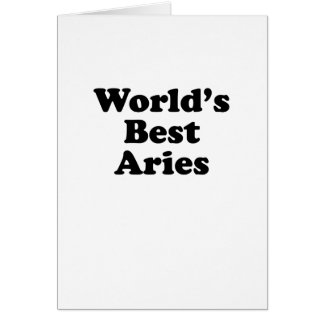 World's Best Aries Card