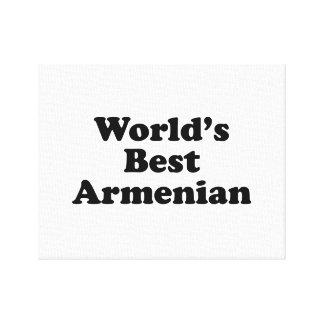 World's Best Armenian Canvas Print