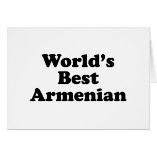 World's Best Armenian Card