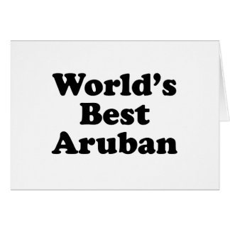 World's Best Aruban Card