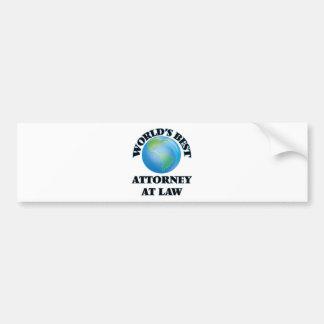 World's Best Attorney At Law Bumper Sticker
