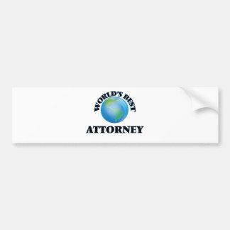 World's Best Attorney Bumper Stickers