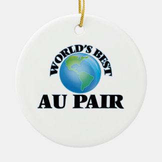 World's Best Au Pair Ceramic Ornament