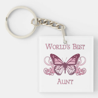 World's Best Aunt (Butterfly) Keychain