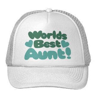 Worlds Best Aunt Mesh Hats