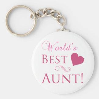 World's Best Aunt (Heart) Keychain