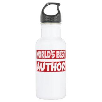 World's best Author. 532 Ml Water Bottle