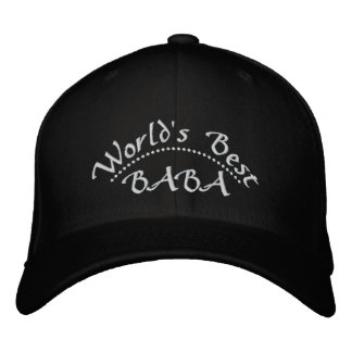 World's Best BABA Embroidered Hat