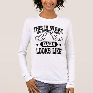 World's Best Baba Looks Like Long Sleeve T-Shirt