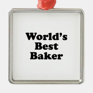 World's Best Baker Metal Ornament