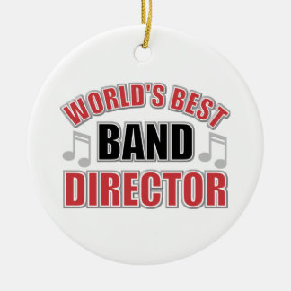 Worlds Best Band Director Christmas Ornament