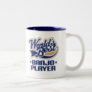 World's Best Banjo Player Music Gift Two-Tone Coffee Mug